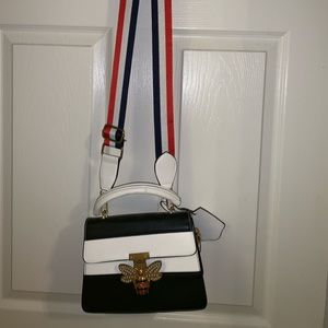 Handbags - AmericanFlag colored handbag With Bumble Bee Clamp